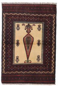 Balúchi Tapete 88X126 Oriental Feito A Mão Vermelho Escuro/Castanho Escuro (Lã, Pérsia/Irão)