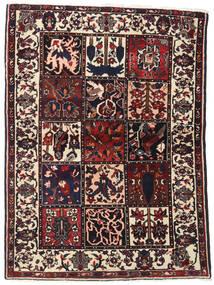 Bakhtiari Tapete 110X151 Oriental Feito A Mão Castanho Escuro/Bege (Lã, Pérsia/Irão)