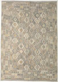 Kilim Afegão Old Style Tapete 240X341 Oriental Tecidos À Mão Cinzento Claro/Verde Azeitona (Lã, Afeganistão)