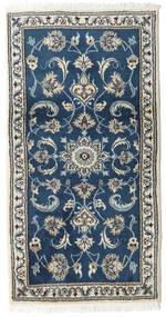 Nain Tapete 70X132 Oriental Feito A Mão Azul Escuro/Cinzento Claro (Lã, Pérsia/Irão)