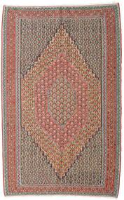 Kilim Senneh Tapete 152X245 Oriental Tecidos À Mão Cinzento Claro/Vermelho Escuro (Lã, Pérsia/Irão)