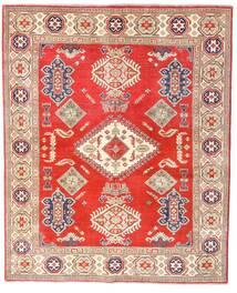 Kazak Tapete 157X192 Oriental Feito A Mão Vermelho/Bege (Lã, Afeganistão)