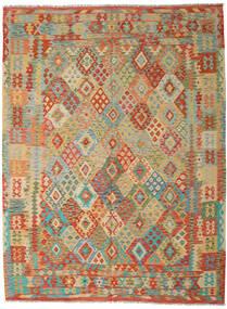 Kilim Afegão Old Style Tapete 254X344 Oriental Tecidos À Mão Bege Escuro/Vermelho Escuro Grande (Lã, Afeganistão)
