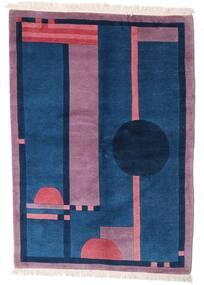 Himalaya Tapete 140X197 Moderno Feito A Mão Azul Escuro/Rosa (Lã, Índia)