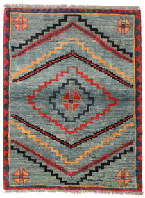 Gabbeh Rustic Tapete 112X148 Moderno Feito A Mão Cinzento Claro/Verde (Lã, Pérsia/Irão)