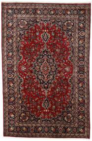Mashad Tapete 195X297 Oriental Feito A Mão Vermelho Escuro/Preto (Lã, Pérsia/Irão)