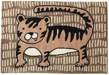 Cool Cat - Bege Tapete 120X180 Moderno Castanho/Castanho Claro (Lã, Índia)