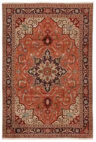 Tabriz 50 Raj Tapete 203X304 Oriental Feito A Mão Castanho Escuro/Vermelho (Lã/Seda, Pérsia/Irão)
