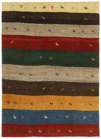 Gabbeh Persa Tapete 123X176 Moderno Feito A Mão Verde Escuro/Vermelho (Lã, Pérsia/Irão)