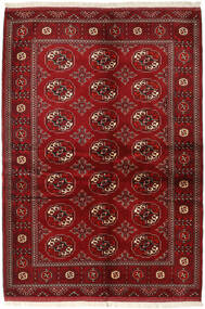 Turcomano Tapete 136X200 Oriental Feito A Mão Vermelho Escuro/Vermelho (Lã, Pérsia/Irão)