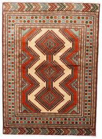Turcomano Tapete 125X172 Oriental Feito A Mão Vermelho Escuro/Castanho Escuro (Lã, Pérsia/Irão)