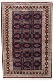 Turcomano Tapete 134X197 Oriental Feito A Mão Vermelho Escuro/Castanho Escuro (Lã, Pérsia/Irão)