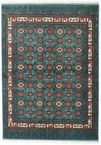 Turcomano Tapete 136X187 Oriental Feito A Mão Turquesa Escuro/Cinza Escuro (Lã, Pérsia/Irão)