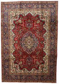 Tabriz Tapete 211X301 Oriental Feito A Mão Vermelho Escuro/Cinza Escuro (Lã, Pérsia/Irão)