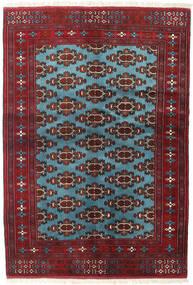 Turcomano Tapete 133X190 Oriental Feito A Mão Vermelho Escuro/Azul (Lã, Pérsia/Irão)