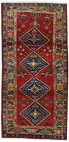 Hamadã Tapete 105X215 Oriental Feito A Mão Vermelho Escuro/Preto (Lã, Pérsia/Irão)