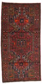 Hamadã Tapete 100X199 Oriental Feito A Mão Vermelho Escuro/Castanho Escuro (Lã, Pérsia/Irão)
