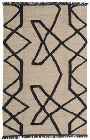 Boho Fish - Cinzento/Preto Tapete 200X300 Moderno Tecidos À Mão Cinzento Claro/Preto (Lã, Índia)