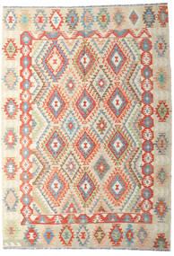 Kilim Afegão Old Style Tapete 202X287 Oriental Tecidos À Mão Bege Escuro/Bege (Lã, Afeganistão)