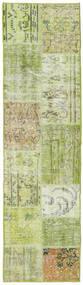 Patchwork - Turkiet Tapete 56X201 Moderno Feito A Mão Tapete Passadeira Verde Claro (Lã, Turquia)