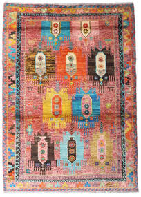 Moroccan Berber - Afghanistan Tapete 123X170 Moderno Feito A Mão Luz Rosa/Castanho Alaranjado (Lã, Afeganistão)