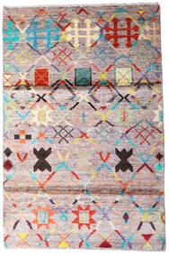 Moroccan Berber - Afghanistan Tapete 119X177 Moderno Feito A Mão Bege/Cinza Escuro (Lã, Afeganistão)