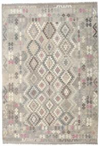Kilim Afegão Old Style Tapete 205X297 Oriental Tecidos À Mão Cinzento Claro/Bege (Lã, Afeganistão)