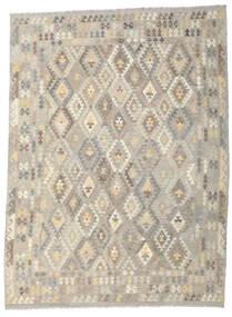 Kilim Afegão Old Style Tapete 259X346 Oriental Tecidos À Mão Cinzento Claro/Bege Grande (Lã, Afeganistão)