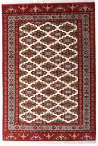 Turcomano Tapete 140X203 Oriental Feito A Mão Vermelho Escuro/Bege (Lã, Pérsia/Irão)
