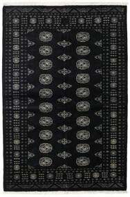 Paquistão Bucara 2Ply Tapete 139X208 Oriental Feito A Mão Preto/Cinza Escuro (Lã, Paquistão)