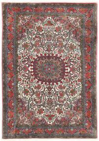 Bijar Takab/Bukan Tapete 113X153 Oriental Feito A Mão Cinza Escuro/Vermelho Escuro (Lã, Pérsia/Irão)