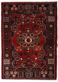 Hamadã Tapete 113X158 Oriental Feito A Mão Castanho Escuro/Vermelho Escuro (Lã, Pérsia/Irão)