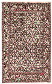 Bijar Tapete 112X177 Oriental Feito A Mão Castanho Escuro/Cinzento Claro (Lã, Pérsia/Irão)