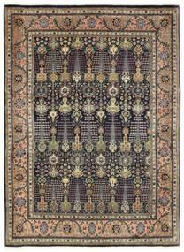 Tabriz 50 Raj Tapete 150X198 Oriental Feito A Mão Cinza Escuro/Azul Escuro (Lã, Pérsia/Irão)