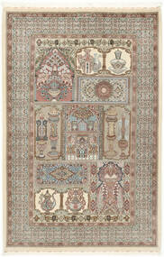 Ilam Sherkat Farsh Seda Tapete 148X223 Oriental Feito A Mão Cinzento Claro/Bege (Lã/Seda, Pérsia/Irão)