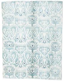 Sari Pura Seda Tapete 153X200 Moderno Feito A Mão Branco/Creme/Azul Claro (Seda, Índia)