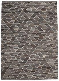 Kilim Ariana Tapete 256X358 Moderno Tecidos À Mão Cinza Escuro/Cinzento Claro Grande (Lã, Afeganistão)