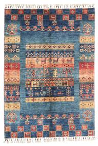 Moderno Afegão Tapete 87X124 Moderno Feito A Mão Azul Escuro/Azul (Lã, Afeganistão)