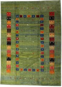 Loribaft Persa Tapete 210X291 Moderno Feito A Mão Verde Azeitona/Verde Escuro (Lã, Pérsia/Irão)