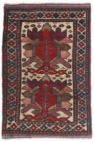 Kilim Golbarjasta Tapete 90X140 Oriental Tecidos À Mão Azul Escuro/Castanho Escuro (Lã, Afeganistão)