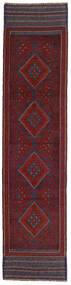 Kilim Golbarjasta Tapete 58X250 Oriental Tecidos À Mão Tapete Passadeira Vermelho Escuro/Cinza Escuro (Lã, Afeganistão)