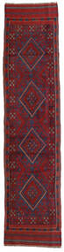 Kilim Golbarjasta Tapete 57X248 Oriental Tecidos À Mão Tapete Passadeira Vermelho Escuro/Porpora Escuro (Lã, Afeganistão)