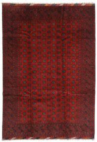 Afegão Tapete 202X283 Oriental Feito A Mão Vermelho Escuro/Castanho Escuro (Lã, Afeganistão)