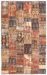 Patchwork - Persien/Iran Tapete 191X312 Moderno Feito A Mão Vermelho Escuro/Castanho (Lã, Pérsia/Irão)