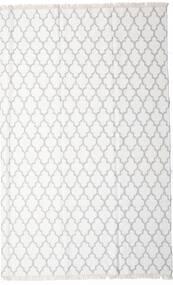 Bambu Seda Kilim Tapete 200X300 Moderno Tecidos À Mão Branco/Creme/Bege/Cinzento Claro (Lã/Bamboo Seda, Índia)