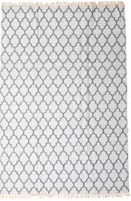 Bambu Seda Kilim Tapete 200X300 Moderno Tecidos À Mão Branco/Creme/Cinzento Claro (Lã/Bamboo Seda, Índia)