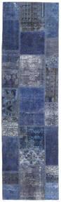 Patchwork - Persien/Iran Tapete 73X253 Moderno Feito A Mão Tapete Passadeira Azul Escuro/Lilás (Lã, Pérsia/Irão)