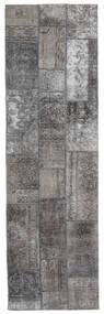 Patchwork - Persien/Iran Tapete 76X253 Moderno Feito A Mão Tapete Passadeira Cinzento Claro/Cinza Escuro (Lã, Pérsia/Irão)
