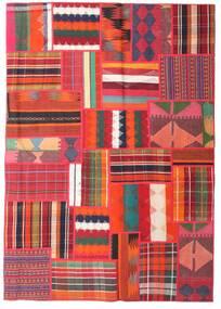 Tekkeh Kilim Tapete 162X230 Moderno Tecidos À Mão Vermelho/Castanho Alaranjado (Lã, Pérsia/Irão)