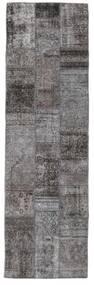 Patchwork - Persien/Iran Tapete 76X252 Moderno Feito A Mão Tapete Passadeira Cinza Escuro/Castanho Escuro (Lã, Pérsia/Irão)